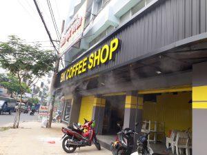 hệ thống phun sương quán cafe