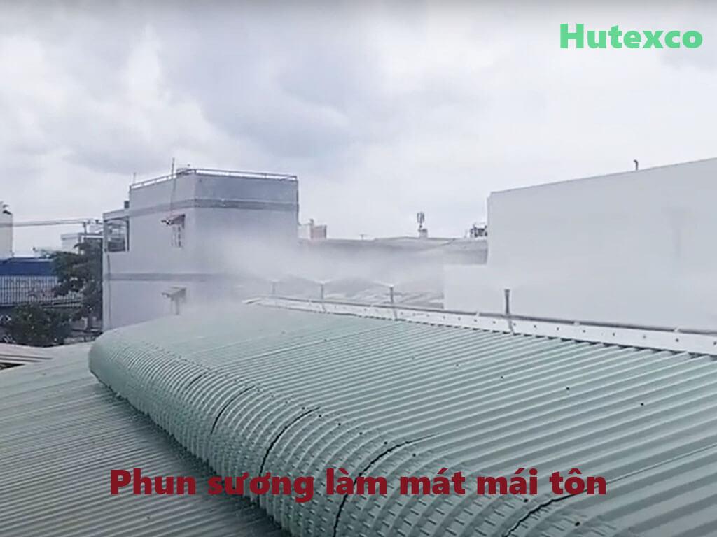 Lắp đặt hệ thống phun sương làm mát mái tôn