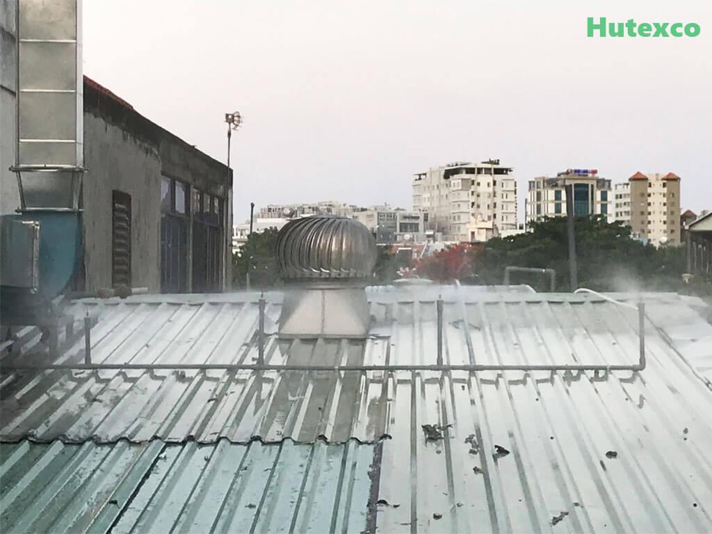 Phun sương hạ nhiệt độ mái tôn