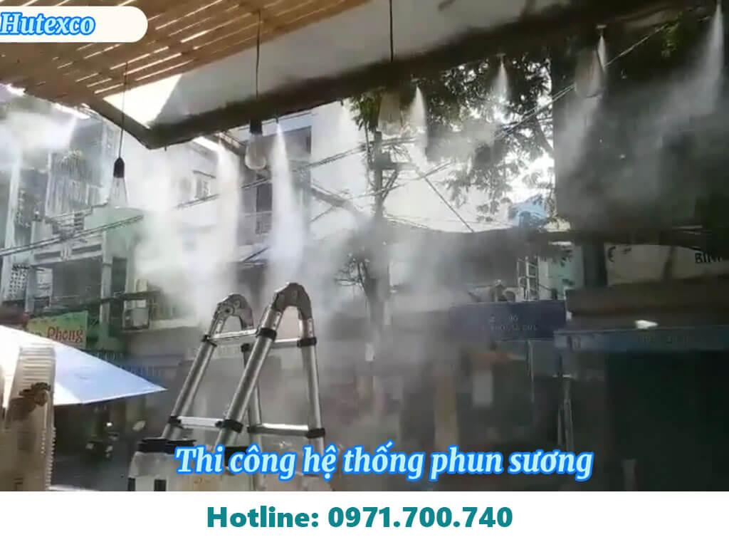 lắp đặt máy phun sương